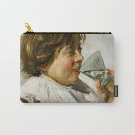 """Frans Hals """"Boy with a glass and a tin can"""" Carry-All Pouch"""
