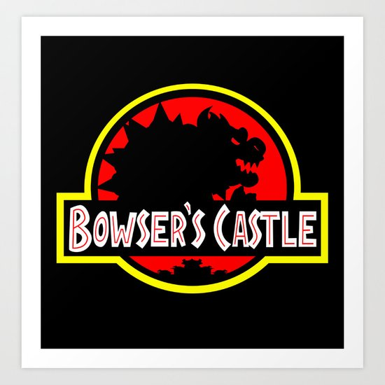 Bowser's Castle Art Print