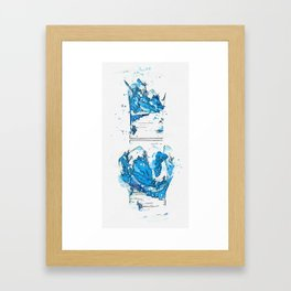 A BLUE AND WHITE 'LANDSCAPE' VASE QING DYNASTY, KANGXI PERIOD 4 watercolor by Ahmet Asar Framed Art Print