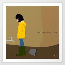 melancholy olive is always waiting. Art Print