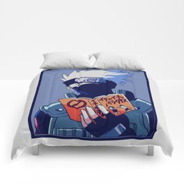 Kakashi Hatake Love Books v2 Comforters