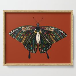 swallowtail butterfly terracotta Serving Tray