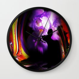 Abstract pefection -Lily Wall Clock