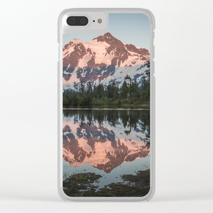 Cascade Sunset - Mt. Shuksan - Nature Photography Clear iPhone Case