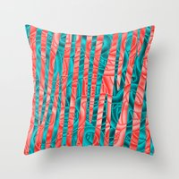 community Throw Pillows featuring Gated Community by RingWaveArt