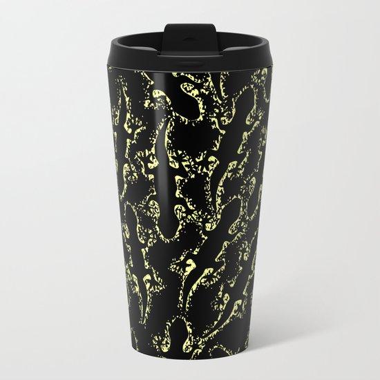 Lizard glitter Metal Travel Mug