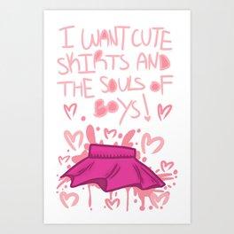 CUTE SKIRTS Art Print