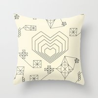 valentine Throw Pillows featuring Valentine by Leandro Pita