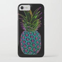 Neon Pineapple iPhone Case