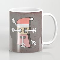 merry christmas Mugs featuring Merry christmas by AmDuf