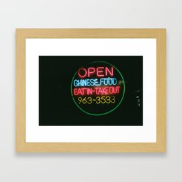 Eat In Take Out Framed Art Print