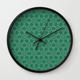 Hexagonal Circles - Emerald Wall Clock