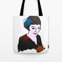amelie Tote Bags featuring Amelie by BIG Colours