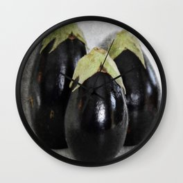 Three Eggplants   The Good, The Bad, & The Ugly   True story! Wall Clock