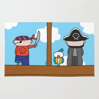 pirates Area & Throw Rugs featuring Pirates by oekie