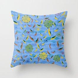 Ocean Currents Throw Pillow