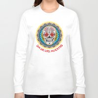 day of the dead Long Sleeve T-shirts featuring Day of the Dead by Gary Grayson