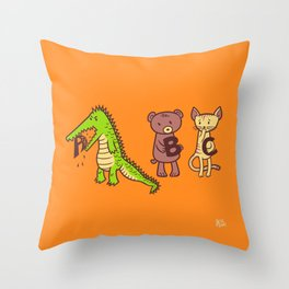 A is for Jerks! Throw Pillow