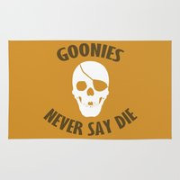 goonies Area & Throw Rugs featuring Goonies Never Say Die by Christina