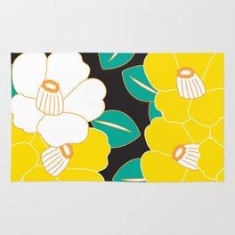 Shades of Tsubaki - Yellow & Black Rug