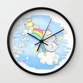 Collab Art RYE - Jugando en el Arco Iris Wall Clock