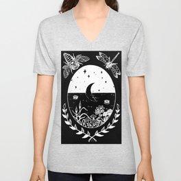 Moon River Marsh Illustration Invert Unisex V-Neck