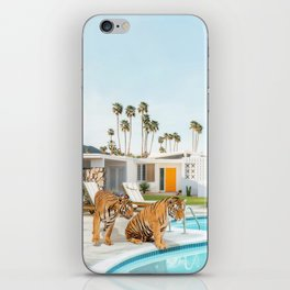 Tigers at the Pool iPhone Skin