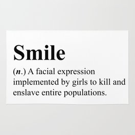 Smile - definition - hipster dictionary - 001 Rug