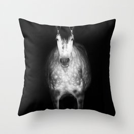 Horse in the dark Throw Pillow
