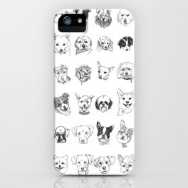 Dogs of the neighbourhood   a collection of portraits iPhone Case