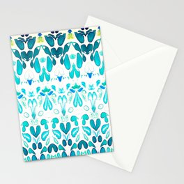 Memories of Summer, Bright Sea Blue and Yellow Stationery Cards