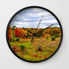 """Autumn Valley"" Wall Clock"