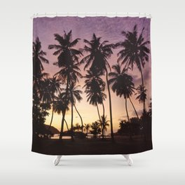 Palm trees on the Seychelles Shower Curtain