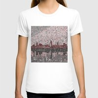 cleveland T-shirts featuring cleveland city skyline by Bekim ART