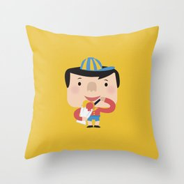 Ice Cream Please (Yellow Tales Series) Throw Pillow