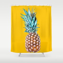 Pineapple Ananas On A Yellow Mellow Background #decor #society6 #buyart Shower Curtain