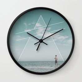 Paddle Triangle Wall Clock