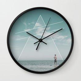 Paddle Triangle Wall Clock