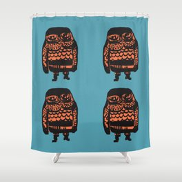 Little Seal (blue) Shower Curtain