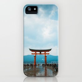 Adventure in Miyajima's Floating Torii, Japan iPhone Case