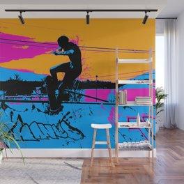On Edge - Skateboarder Wall Mural