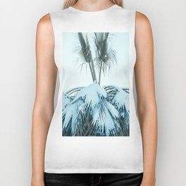 Palm and Snow Biker Tank