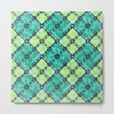 checkered pattern Metal Print