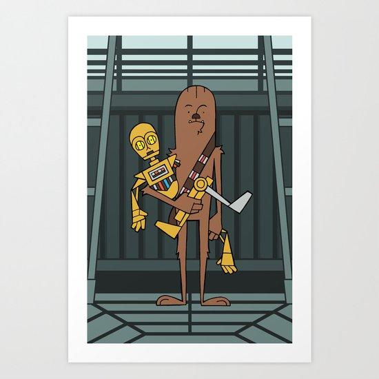 EP5 : Chewie & C3PO Art Print
