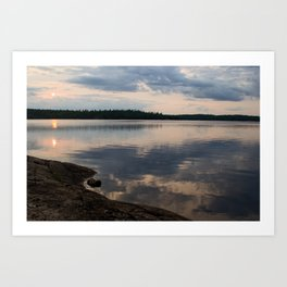 Lake Reflection Art Print