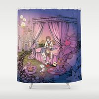 fairy tale Shower Curtains featuring Fairy Tale by Katie Badenhorst