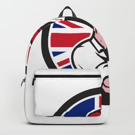 British Handyman Union Jack Flag Icon Backpack