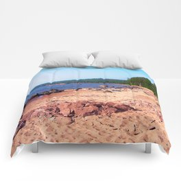 Summer Shores of Lake Superior Comforters