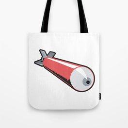 Red Torpedo Retro Tote Bag