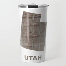 Utah map outline Gray hand-drawn wash drawing Travel Mug